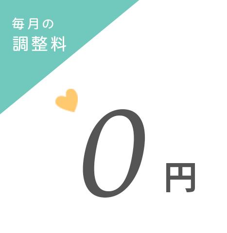 毎月の調整料 0円